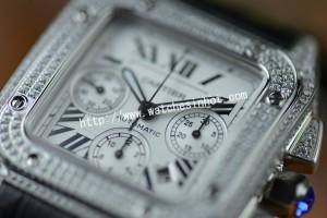 Cartier Santos 100 Chronograph Diamond Set Replica Watch W20073X8_03