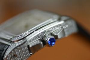 Cartier Santos 100 Chronograph Diamond Set Replica Watch W20073X8_04