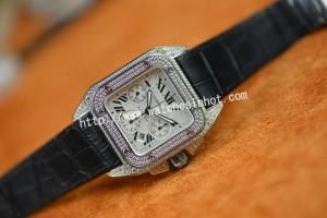 Cartier Santos 100 Chronograph Diamond Set Replica Watch W20073X8_06