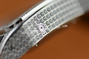 Cartier Santos 100 Chronograph Diamond Set Replica Watch W20073X8_13