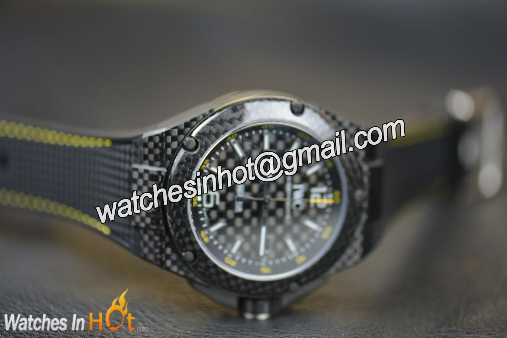 ddf24839304 Black Carbon Fibre Dial of IWC Ingenieur Automatic Carbon Performance  IW322402 Replica Watch ...