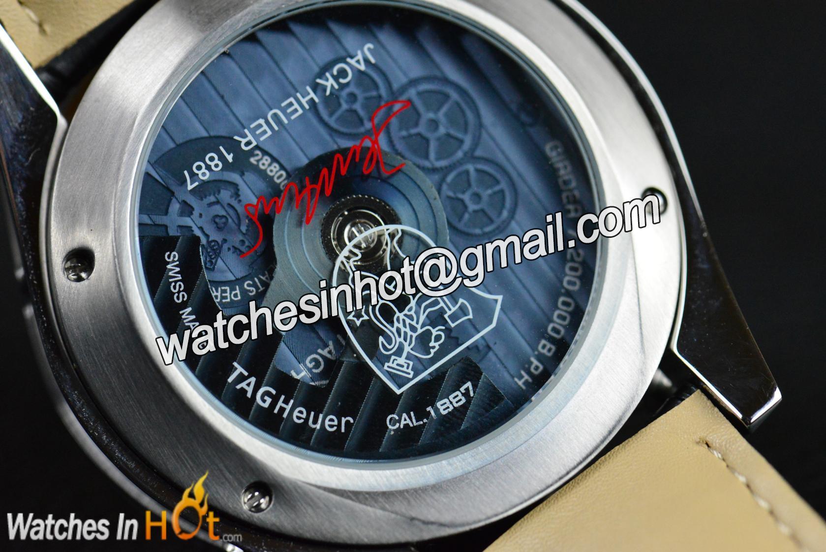 2417a0428d8 Seiko VK Quartz Movement on TAG Heuer Carrera Calibre 1887 Chronograph Jack  Heuer Edition Replica Watch