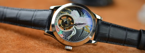 Jaeger LeCoultre Master Grand Tourbillon Enamel Cranes Replica Watch