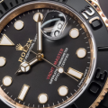 Rolex Yacht-Master 116655 Replica Watch In Everose Gold With Black Ceramic Bezel