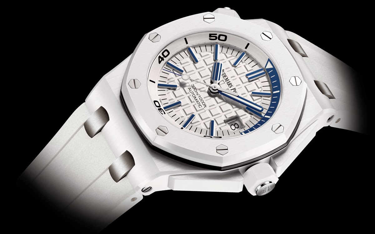 Introducing the replica audemars piguet royal oak offshore diver in white ceramic replica for Royal oak offshore ceramic