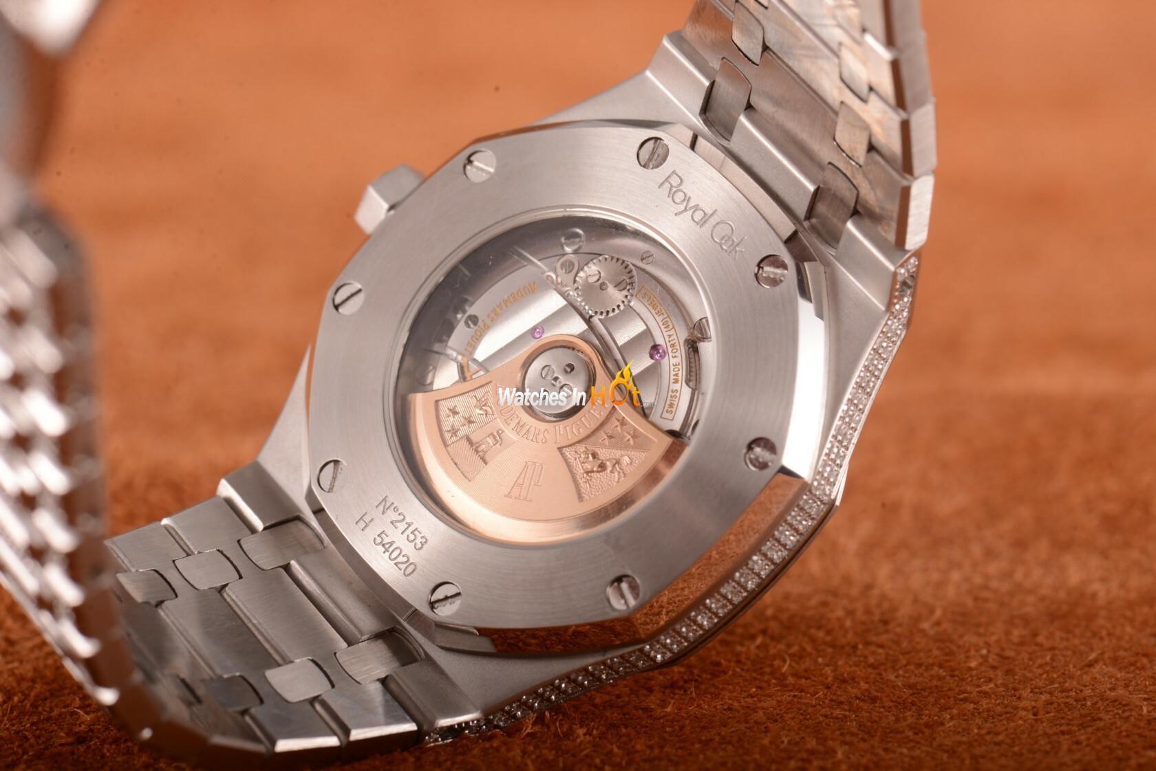New audemars piguet royal oak 15400 diamond replica watch review replica watches reviews for Replica watches