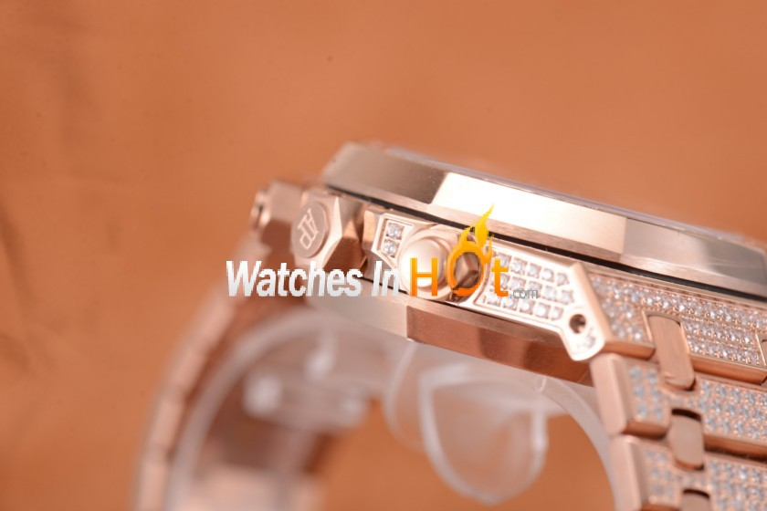 Audemars Piguet Royal Oak Chronograph Diamond Pave Men's Replica Watch - EF