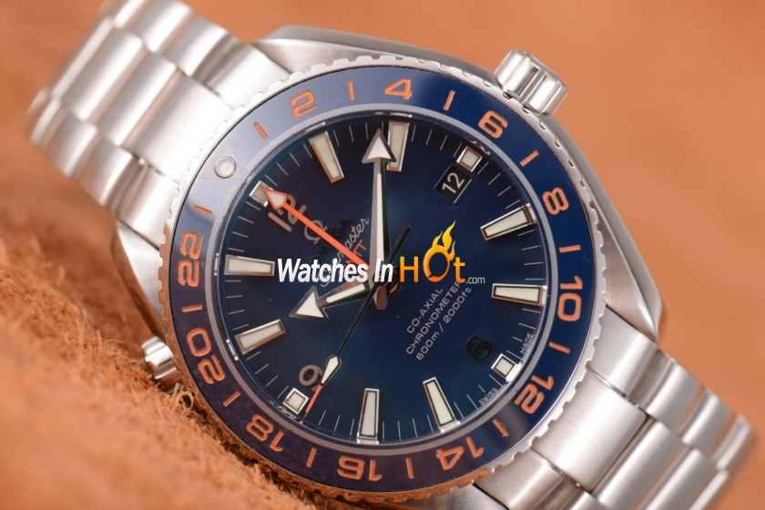 New Version of Omega Seamaster Planet Ocean GMT Replica Watch with Clone Omega 8605