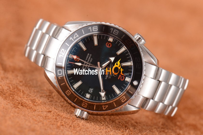 New version of omega seamaster planet ocean gmt replica watch with clone omega 8605 replica for Omega replica watch