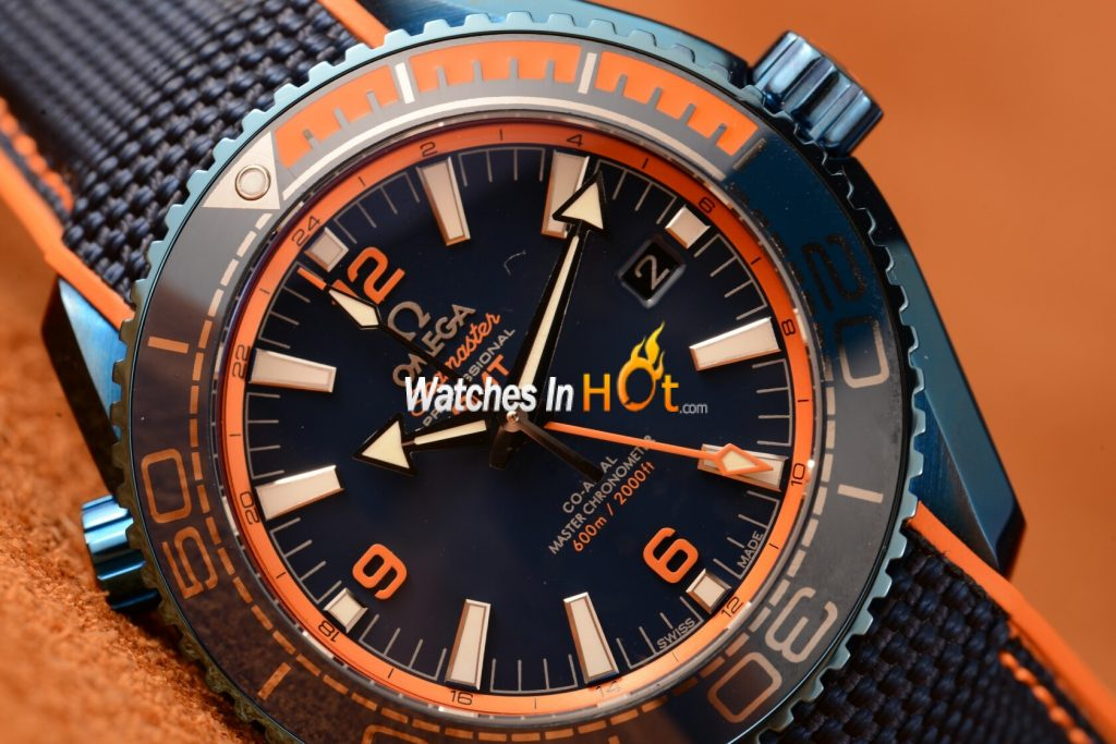 2018 Omega Seamaster Planet Ocean Big Blue Ceramic GMT Replica Review
