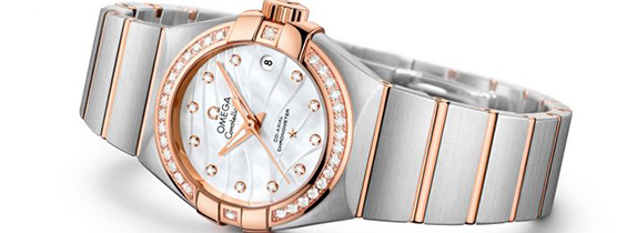 Omega Constellation Ladies Swiss Quartz Wavy Pattern Dial (AAAF)