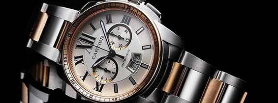 Cartier Calibre de Cartier Chronograph Replica Watch for low cost